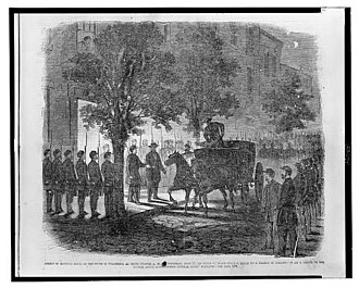 George Proctor Kane - George P. Kane's Arrest at his home in Baltimore, three o'clock a.m. Thursday, June 27, 1861