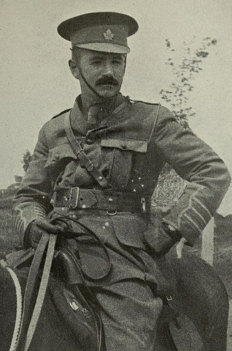 George Harold Baker - Image: George Harold Baker on horseback in uniform in 1915
