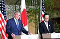 George W Bush and Yasuo Fukuda 20080706 4.jpg