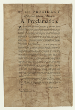 George Washington's 1795 Thanksgiving Day Proclamation
