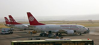 Borjgali - Image: Georgian Airways Tbilisi International Airport