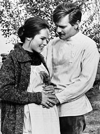 With Geraldine Chaplin in Doctor Zhivago (1965)
