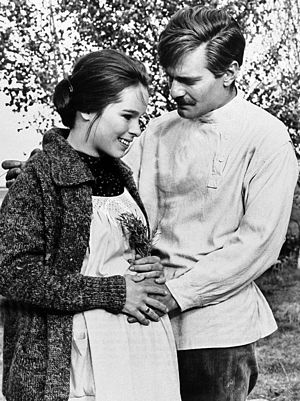 Omar Sharif - With Geraldine Chaplin in Doctor Zhivago (1965)