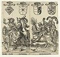 Gertruida van Saksen, Robrecht I de Fries, Godfried met de bult en Dirk V De Graven en Gravinnen van Holland (serietitel), RP-P-BI-6235B.jpg