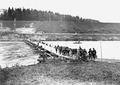 Geschützgespann auf der Ponton-Brücke über die Aare - CH-BAR - 3239595.tif