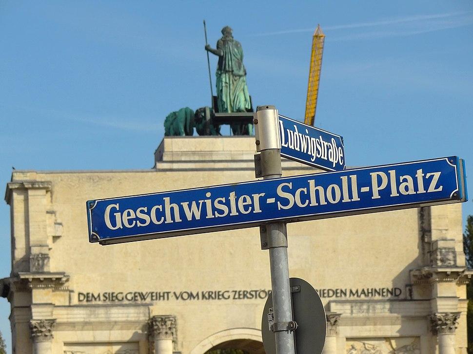 Geschwister-Scholl-Platz - Scholl Siblings Plaza - Outside Ludwig-Maximilians-Universitat - Munich - Germany