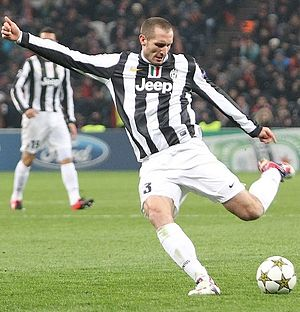 Giorgio Chiellini - Chiellini playing for Juventus in 2012