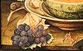 Giovanna garzoni, natura morta con popone su ub piatto, uva e una chiocciola, 1642-51 ca. 04.JPG