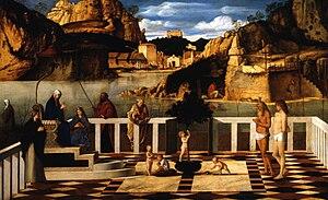 Holy Allegory - Image: Giovanni Bellini Allegoria sacra