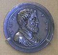 Giovanni da cavino, medaglia argentea di omero, 1550 circa.JPG
