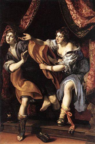 Potiphar and his wife - Image: Giuseppe e la moglie di Putifarre, Ludovico Cigoli, Roma, Galleria Borghese (1610), olio su tela