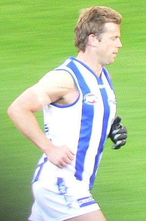 Glenn Archer - Archer playing for North Melbourne during the 2007 AFL Season