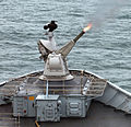 Goalkeeper CIWS Gun Opens Fire During Exercise at Sea MOD 45151583.jpg