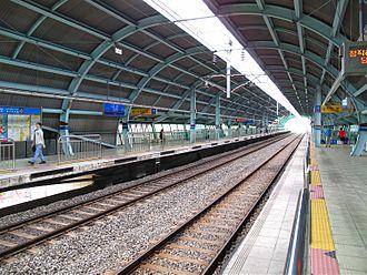 Gojan station - Platform at Gojan Station