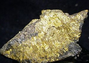 Witwatersrand Basin - High-grade gold ore from the Witwatersrand near Johannesburg.