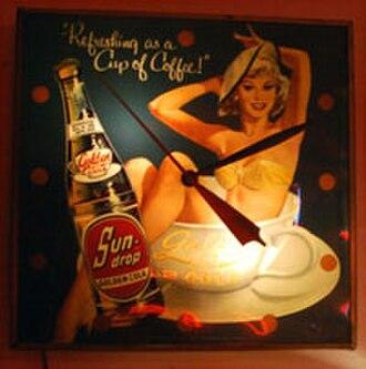 Sun Drop - Sundrop Golden Girl Cola clock