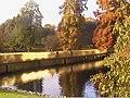 Golden footbridge over main lake in Kew Gardens - geograph.org.uk - 1542713.jpg