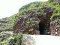 Gorges du Daluis - Tunnel creusé pour le passage du tramway.JPG