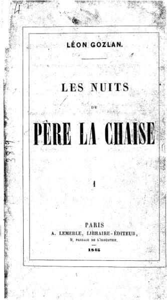 File:Gozlan - Les Nuits du Père Lachaise, tome 1, A. Lemerle, 1845.djvu