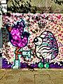 Graffiti in Shoreditch, London - Chicken and Egg by Binty Bint and Artista (9422247861).jpg