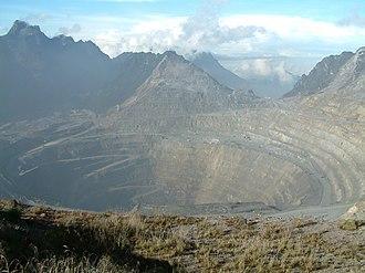 Grasberg mine - Grasberg mine open pit.