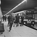 Gratis in metro in Rotterdam. Drukte op het Beursstation. Beursstation, Bestanddeelnr 920-9640.jpg