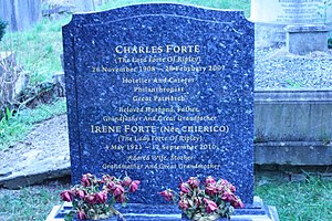 Charles Forte, Baron Forte - Grave of Lord and Lady Forte in West Hampstead Cemetery