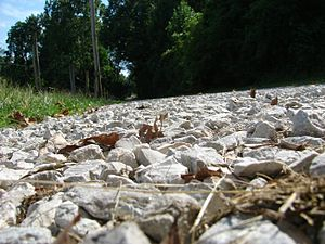 Gravel - A gravel road in Terre Haute, Indiana