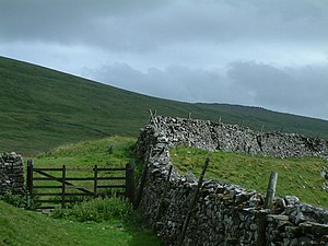 Great Whernside - Great Whernside from next to Tor Dyke near the road between Kettlewell and Coverdale