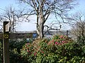 Greenway House, Footpath Signpost, Rhododendrons - geograph.org.uk - 369247.jpg