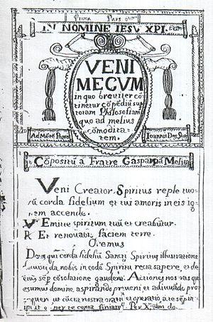 Gasper Grima - Frontispiece of Grima's Venimecum