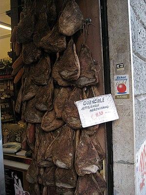 Guanciale - Guanciale in a shop