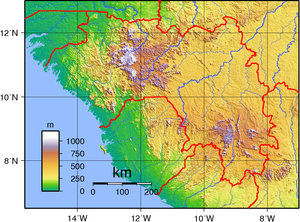 Geography of Guinea - Guinea's topography.