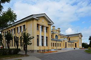 Gulbene - Image: Gulbene raudteejaam 01