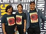 Guyana Philatelic Society members with British Guiana 1c magenta t-shirts (2).jpg