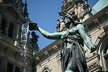 汉堡-建筑和公园-HH Hygieia-Brunnen