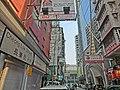 HK Jordan Nathan Road 長樂街 Cheong Lok Street name sign view Hotel Madera Hong Kong Jan-2014.JPG