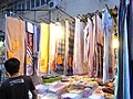 HK Mong Kok Fa Yuen Street evening clothes towel stall Sept-2012.JPG