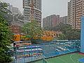 HK North Point Mid-Levels Braemar Hill Road CCC Kwei Wah Shan view HKSYU building Apr-2014 Hilltop Mansion n Beverley Heights.JPG