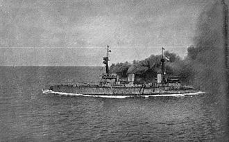 Invincible-class battlecruiser - Invincible during the pursuit of the German cruiser squadron