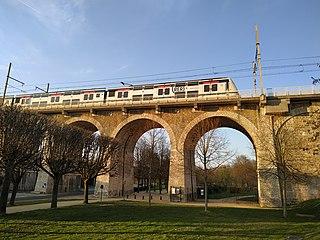 RER A Hybrid suburban commuter railway line in Paris, France