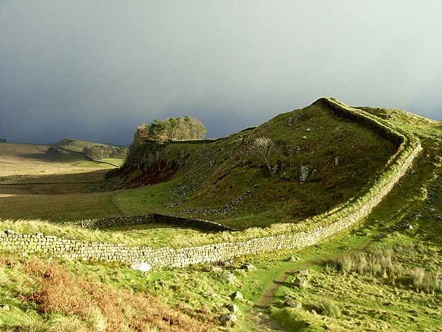 Hadrian's Wall and Housesteads Crags - geograph.org.uk - 1061919
