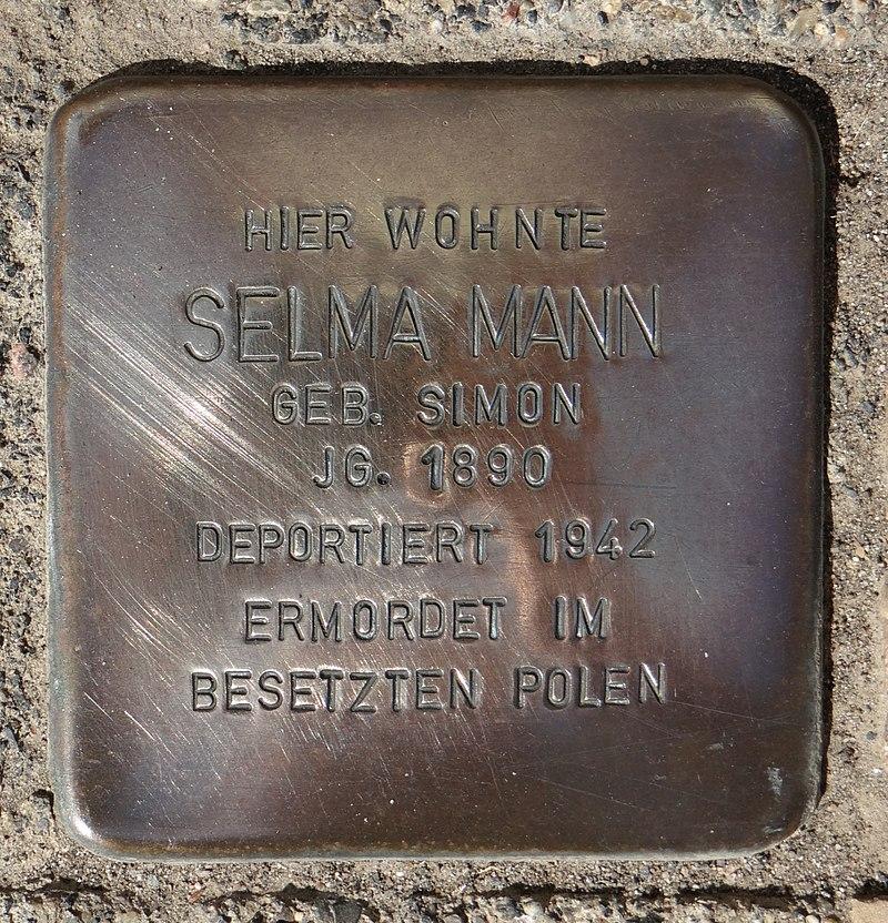 Hahnheim Stolperstein Untere Hauptstraße 8 Selma Mann.jpg