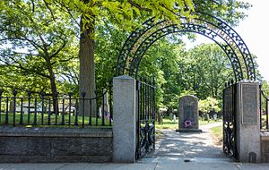 Hancock Cemetery - Entry gate