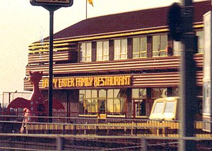 Happy Eater - Happy Eater restaurant (circa 1985) including children's play equipment.