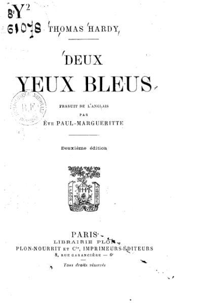 File:Hardy - Deux yeux bleus, trad. Paul-Margueritte, 1913.djvu