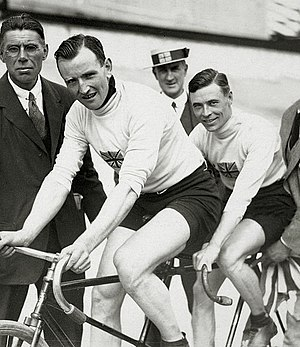 Harry Ryan (cyclist) - Harry Ryan (left) and Thomas Lance at the 1920 Olympics