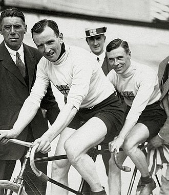 Harry Ryan (cyclist) - Harry Ryan (left) and Thomas Lance at the 1920 Olympics