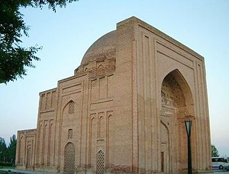 Khanqah - Haruniyeh tomb, named after Harun al-Rashid. The present structure, a khanqah, is located in Tus, Iran and was probably built in the 13th century. Al-Ghazali is buried here.