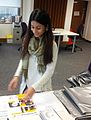 Hasina Khatun, Wikimedia UK Intern, at work.jpg